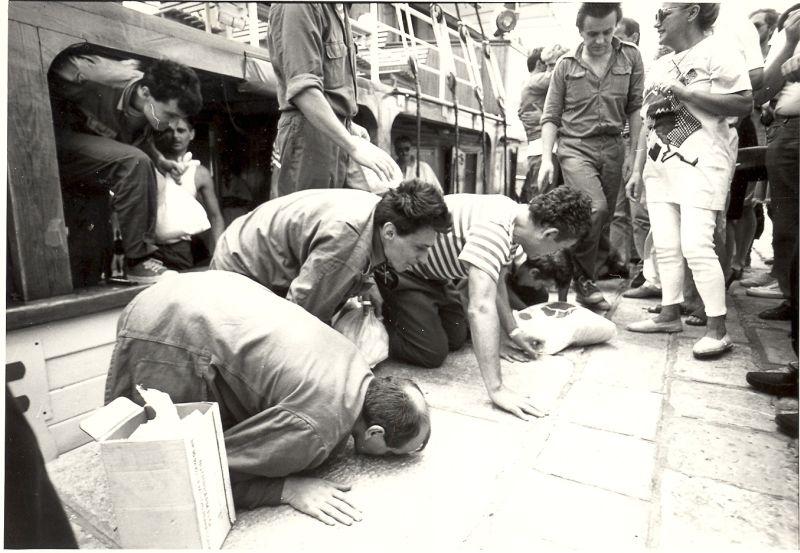 Morinjski logoraši ljube rivu u luci Gruž
