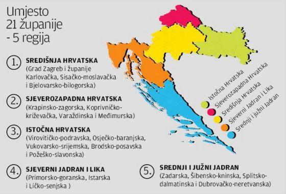 Hrvatske Pokrajine Karta Karta